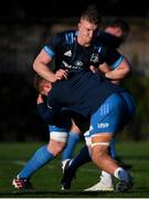25 November 2020; Dan Leavy is tackled by Scott Penny during Leinster Rugby squad training at UCD in Dublin. Photo by Ramsey Cardy/Sportsfile