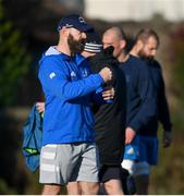 25 November 2020; Contact skills coach Hugh Hogan during Leinster Rugby squad training at UCD in Dublin. Photo by Ramsey Cardy/Sportsfile