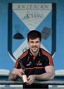 26 November 2020; Cavan footballer Thomas Galligan with his PwC GAA/GPA Footballer of the Month for November award at his home club Lacken Celtic in Lacken, Cavan. Photo by Ramsey Cardy/Sportsfile