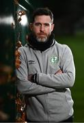 26 November 2020; Shamrock Rovers manager Stephen Bradley poses for a portrait during a Shamrock Rovers media conference at Roadstone Group Sports Club in Dublin. Photo by Sam Barnes/Sportsfile