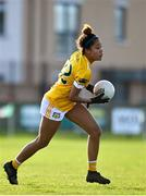 22 November 2020; Lara Dahunsi of Antrim during the TG4 All-Ireland Junior Ladies Football Championship Semi-Final match between Antrim and Wicklow at Donaghmore/Ashbourne GAA in Ashbourne, Meath. Photo by Sam Barnes/Sportsfile