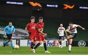 26 November 2020; Michael Duffy of Dundalk during the UEFA Europa League Group B match between Dundalk and SK Rapid Wien at Aviva Stadium in Dublin. Photo by Eóin Noonan/Sportsfile