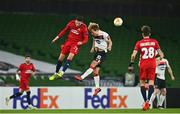 26 November 2020; Ercan Kara of SK Rapid Wien in action against Greg Sloggett of Dundalk during the UEFA Europa League Group B match between Dundalk and SK Rapid Wien at Aviva Stadium in Dublin. Photo by Eóin Noonan/Sportsfile