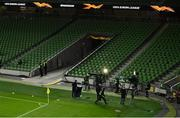 26 November 2020; Flash area prior to the UEFA Europa League Group B match between Dundalk and SK Rapid Wien at Aviva Stadium in Dublin. Photo by Eóin Noonan/Sportsfile