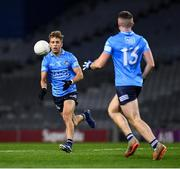21 November 2020; Jonny Cooper of Dublin makes a pass to team-mate Paddy Small during the Leinster GAA Football Senior Championship Final match between Dublin and Meath at Croke Park in Dublin. Photo by Ray McManus/Sportsfile