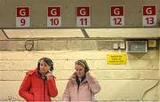 28 November 2020; RTÉ Radio 1 analyst Niamh Kindlon, left, and commentator Siobhán Madigan during the TG4 All-Ireland Senior Ladies Football Championship Semi-Final match between Armagh and Dublin at Kingspan Breffni in Cavan. Photo by Piaras Ó Mídheach/Sportsfile