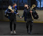 28 November 2020; Jamie Barron, right, and Darragh Lyons of Waterford arrive ahead of the GAA Hurling All-Ireland Senior Championship Semi-Final match between Kilkenny and Waterford at Croke Park in Dublin. Photo by Daire Brennan/Sportsfile