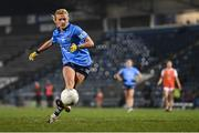 28 November 2020; Carla Rowe of Dublin scores her side's third goal, from a penalty, during the TG4 All-Ireland Senior Ladies Football Championship Semi-Final match between Armagh and Dublin at Kingspan Breffni in Cavan. Photo by Piaras Ó Mídheach/Sportsfile