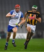 28 November 2020; Jack Prendergast of Waterford in action against Paddy Deegan of Kilkenny during the GAA Hurling All-Ireland Senior Championship Semi-Final match between Kilkenny and Waterford at Croke Park in Dublin. Photo by Ray McManus/Sportsfile