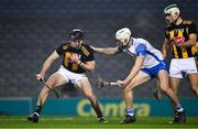 28 November 2020; Conor Delaney of Kilkenny in action against Jack Fagan of Waterford during the GAA Hurling All-Ireland Senior Championship Semi-Final match between Kilkenny and Waterford at Croke Park in Dublin. Photo by Ray McManus/Sportsfile