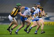 28 November 2020; Stephen Bennett of Waterford in action against Tommy Walsh of Kilkenny during the GAA Hurling All-Ireland Senior Championship Semi-Final match between Kilkenny and Waterford at Croke Park in Dublin. Photo by Stephen McCarthy/Sportsfile