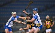 28 November 2020; Austin Gleeson of Waterford gathers the sliotar ahead of team-mate Dessie Hutchinson, left, and Conor Delaney of Kilkenny during the GAA Hurling All-Ireland Senior Championship Semi-Final match between Kilkenny and Waterford at Croke Park in Dublin. Photo by Ray McManus/Sportsfile
