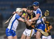 28 November 2020; Conor Delaney of Kilkenny is tackled by Dessie Hutchinson, left, and Austin Gleeson of Waterford during the GAA Hurling All-Ireland Senior Championship Semi-Final match between Kilkenny and Waterford at Croke Park in Dublin. Photo by Ray McManus/Sportsfile