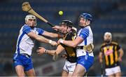 28 November 2020; Dessie Hutchinson, left, and Austin Gleeson of Waterford contest possession with Conor Delaney of Kilkenny during the GAA Hurling All-Ireland Senior Championship Semi-Final match between Kilkenny and Waterford at Croke Park in Dublin. Photo by Ray McManus/Sportsfile