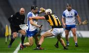 28 November 2020; Jamie Barron of Waterford is tackled by Conor Browne of Kilkenny during the GAA Hurling All-Ireland Senior Championship Semi-Final match between Kilkenny and Waterford at Croke Park in Dublin. Photo by Ray McManus/Sportsfile