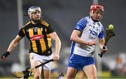 28 November 2020; Calum Lyons of Waterford in action against TJ Reid of Kilkenny during the GAA Hurling All-Ireland Senior Championship Semi-Final match between Kilkenny and Waterford at Croke Park in Dublin. Photo by Ray McManus/Sportsfile