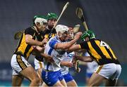 28 November 2020; Jack Fagan of Waterford is tackled by Paddy Deegan and Tommy Walsh of Kilkenny during the GAA Hurling All-Ireland Senior Championship Semi-Final match between Kilkenny and Waterford at Croke Park in Dublin. Photo by Ray McManus/Sportsfile