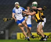 28 November 2020; Jack Fagan of Waterford is tackled by Tommy Walsh and Conor Browne of Kilkenny during the GAA Hurling All-Ireland Senior Championship Semi-Final match between Kilkenny and Waterford at Croke Park in Dublin. Photo by Ray McManus/Sportsfile