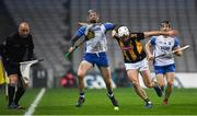 28 November 2020; Kieran Bennett of Waterford is fouled by Conor Fogarty of Kilkenny resulting in a free for Waterford during the GAA Hurling All-Ireland Senior Championship Semi-Final match between Kilkenny and Waterford at Croke Park in Dublin. Photo by Ray McManus/Sportsfile