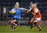 28 November 2020; Carla Rowe of Dublin in action against Aveen Bellew of Armagh during the TG4 All-Ireland Senior Ladies Football Championship Semi-Final match between Armagh and Dublin at Kingspan Breffni in Cavan. Photo by Piaras Ó Mídheach/Sportsfile