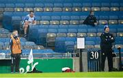 28 November 2020; Jake Dillon of Waterford watches on from the stand after being substituted during the GAA Hurling All-Ireland Senior Championship Semi-Final match between Kilkenny and Waterford at Croke Park in Dublin. Photo by Harry Murphy/Sportsfile