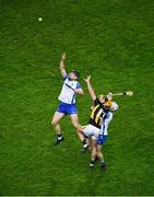 28 November 2020; Kevin Moran, left, and Conor Prunty of Waterford in action against Billy Ryan of Kilkenny during the GAA Hurling All-Ireland Senior Championship Semi-Final match between Kilkenny and Waterford at Croke Park in Dublin. Photo by Daire Brennan/Sportsfile