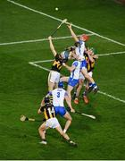 28 November 2020; Tadhg de Búrca of Waterford in action against TJ Reid of Kilkenny during the GAA Hurling All-Ireland Senior Championship Semi-Final match between Kilkenny and Waterford at Croke Park in Dublin. Photo by Daire Brennan/Sportsfile