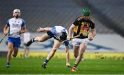 28 November 2020; Eoin Cody of Kilkenny breaks clear of Kevin Moran of Waterford on his way to scoring a point during the GAA Hurling All-Ireland Senior Championship Semi-Final match between Kilkenny and Waterford at Croke Park in Dublin. Photo by Ray McManus/Sportsfile