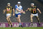 28 November 2020; Stephen Bennett of Waterford is hooked by Huw Lawlor of Kilkenny on his way to scoring his side's first goal during the GAA Hurling All-Ireland Senior Championship Semi-Final match between Kilkenny and Waterford at Croke Park in Dublin. Photo by Harry Murphy/Sportsfile