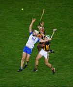 28 November 2020; Jack Fagan of Waterford in action against Padraig Walsh, left, and Paddy Deegan of Kilkenny during the GAA Hurling All-Ireland Senior Championship Semi-Final match between Kilkenny and Waterford at Croke Park in Dublin. Photo by Daire Brennan/Sportsfile