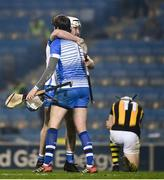 28 November 2020; Shane McNulty and Stephen O'Keeffe of Waterford celebrate as TJ Reid of Kilkenny looks dejected after the GAA Hurling All-Ireland Senior Championship Semi-Final match between Kilkenny and Waterford at Croke Park in Dublin. Photo by Ray McManus/Sportsfile