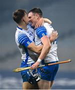 28 November 2020; Austin Gleeson, right, and Jack Fagan of Waterford embrace following the GAA Hurling All-Ireland Senior Championship Semi-Final match between Kilkenny and Waterford at Croke Park in Dublin. Photo by Harry Murphy/Sportsfile