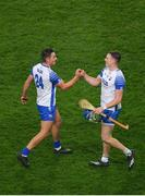 28 November 2020; Neil Montgomery, left, and Austin Gleeson of Waterford celebrate after the GAA Hurling All-Ireland Senior Championship Semi-Final match between Kilkenny and Waterford at Croke Park in Dublin. Photo by Daire Brennan/Sportsfile