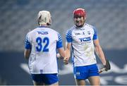 28 November 2020; Tadhg de Búrca, right, and Shane McNulty of Waterford celebrate following the GAA Hurling All-Ireland Senior Championship Semi-Final match between Kilkenny and Waterford at Croke Park in Dublin. Photo by Stephen McCarthy/Sportsfile