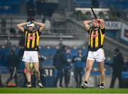 28 November 2020; Cillian Buckley, right and Huw Lawlor of Kilkenny react at the full-time whistle following the GAA Hurling All-Ireland Senior Championship Semi-Final match between Kilkenny and Waterford at Croke Park in Dublin. Photo by Harry Murphy/Sportsfile