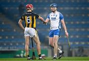28 November 2020; Austin Gleeson of Waterford and Cillian Buckley of Kilkenny fist bump following the GAA Hurling All-Ireland Senior Championship Semi-Final match between Kilkenny and Waterford at Croke Park in Dublin. Photo by Harry Murphy/Sportsfile