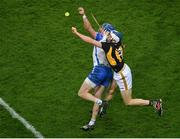 28 November 2020; Austin Gleeson of Waterford in action against Huw Lawlor of Kilkenny during the GAA Hurling All-Ireland Senior Championship Semi-Final match between Kilkenny and Waterford at Croke Park in Dublin. Photo by Daire Brennan/Sportsfile