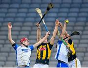 28 November 2020; Jack Prendergast, right, and Calum Lyons of Waterford in action against Walter Walsh, left, and Cillian Buckley of Kilkenny during the GAA Hurling All-Ireland Senior Championship Semi-Final match between Kilkenny and Waterford at Croke Park in Dublin. Photo by Stephen McCarthy/Sportsfile