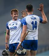 28 November 2020; Iarlaith Daly, left, and Austin Gleeson of Waterford celebrate following the GAA Hurling All-Ireland Senior Championship Semi-Final match between Kilkenny and Waterford at Croke Park in Dublin. Photo by Harry Murphy/Sportsfile