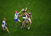 28 November 2020; TJ Reid, left, and Walter Walsh of Kilkenny in action against Waterford players, from left, Calum Lyons, Jamie Barron and Conor Gleeson during the GAA Hurling All-Ireland Senior Championship Semi-Final match between Kilkenny and Waterford at Croke Park in Dublin. Photo by Daire Brennan/Sportsfile