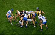 28 November 2020; Players from both sides contest for the ball during the GAA Hurling All-Ireland Senior Championship Semi-Final match between Kilkenny and Waterford at Croke Park in Dublin. Photo by Daire Brennan/Sportsfile