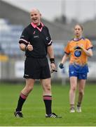 28 November 2020; Referee Shane Curley during the TG4 All-Ireland Intermediate Ladies Football Championship Semi-Final match between Clare and Meath at MW Hire O'Moore Park in Portlaoise, Laois. Photo by Brendan Moran/Sportsfile