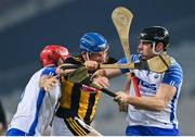 28 November 2020; John Donnelly of Kilkenny in action against Tadhg de Búrca/left Kevin Moran of Waterford during the GAA Hurling All-Ireland Senior Championship Semi-Final match between Kilkenny and Waterford at Croke Park in Dublin. Photo by Ramsey Cardy/Sportsfile
