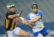 28 November 2020; Jamie Barron of Waterford in action against Paddy Deegan of Kilkenny during the GAA Hurling All-Ireland Senior Championship Semi-Final match between Kilkenny and Waterford at Croke Park in Dublin. Photo by Ramsey Cardy/Sportsfile
