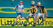 28 November 2020; Calum Lyons of Waterford in action against TJ Reid and Paddy Deegan, right, of Kilkenny during the GAA Hurling All-Ireland Senior Championship Semi-Final match between Kilkenny and Waterford at Croke Park in Dublin. Photo by Stephen McCarthy/Sportsfile