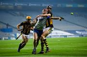 28 November 2020; Calum Lyons of Waterford in action against Walter Walsh of Kilkenny during the GAA Hurling All-Ireland Senior Championship Semi-Final match between Kilkenny and Waterford at Croke Park in Dublin. Photo by Stephen McCarthy/Sportsfile