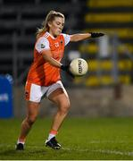 28 November 2020; Kelly Mallon of Armagh takes a free during the TG4 All-Ireland Senior Ladies Football Championship Semi-Final match between Armagh and Dublin at Kingspan Breffni in Cavan. Photo by Piaras Ó Mídheach/Sportsfile