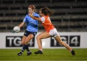 28 November 2020; Siobhán Killeen of Dublin in action against Clodagh McCambridge of Armagh during the TG4 All-Ireland Senior Ladies Football Championship Semi-Final match between Armagh and Dublin at Kingspan Breffni in Cavan. Photo by Piaras Ó Mídheach/Sportsfile