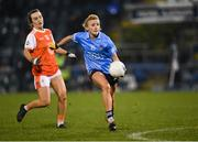 28 November 2020; Carla Rowe of Dublin in action against Catherine Marley of Armagh during the TG4 All-Ireland Senior Ladies Football Championship Semi-Final match between Armagh and Dublin at Kingspan Breffni in Cavan. Photo by Piaras Ó Mídheach/Sportsfile