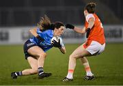 28 November 2020; Lyndsey Davey of Dublin in action against Sarah Marley of Armagh during the TG4 All-Ireland Senior Ladies Football Championship Semi-Final match between Armagh and Dublin at Kingspan Breffni in Cavan. Photo by Piaras Ó Mídheach/Sportsfile
